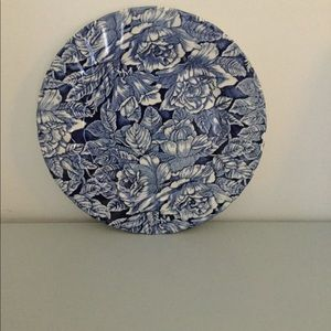 Beautiful Blue and White Dinner Plate by Churchill